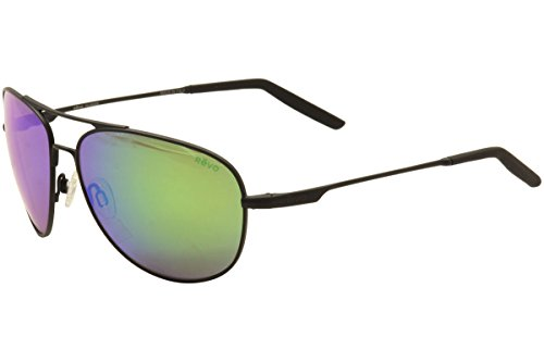 Revo Windspeed RE 3087 01 GN Polarized Aviator Sunglasses, Matte Black/Green Water, 61 - Sunglasses Revo Aviator
