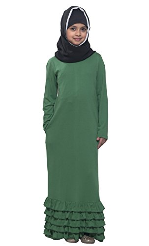 Green-Cotton-Knitted-Abayas-and-Jilbabs