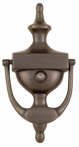 Oil Rubbed Bronze 7'' Inch Traditional Door Knocker w/ Viewer : 55-2158