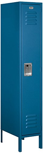 Locker Steel Standard (Salsbury Industries 61158BL-U Single Tier 12-Inch Wide 5-Feet High 18-Inch Deep Unassembled Standard Metal Locker, Blue)
