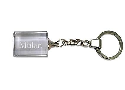 Shopzeus Llavero de Cristal con Nombre Grabado: Mulan ...