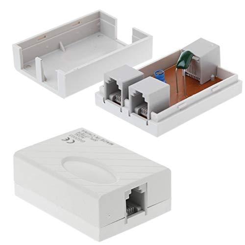 ShineBear Telephone RJ11 Line ADSL Modem Broadband Phone Line Filter Splitter-PC Friend - (Cable Length: Other)