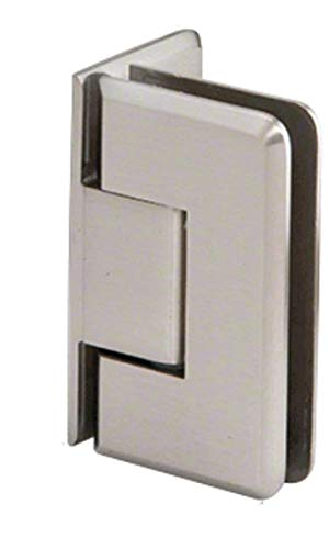 - CRL Pinnacle 044 Series Brushed Nickel Wall Mount Offset Back Plate Hinge