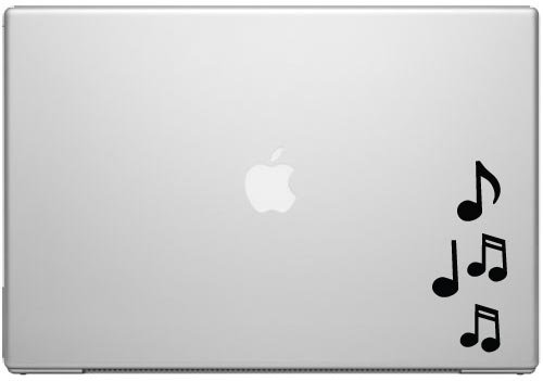 (Music Notes Rhapsody Melody Song Macbook Car Tablet Art - Black Vinyl Decal for 13
