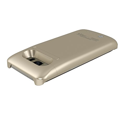S7 Edge Battery CaseALCLAP Charger event 5200mAh extra lean Rechargeable portable External Backup Battery Pack Charger Cover Protective event energy Bank for Samsung Galaxy S7 EdgeGold Charger Cases