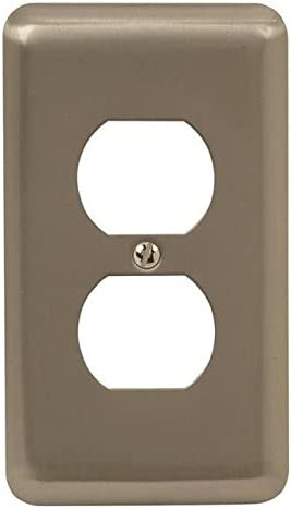 NEW Amerelle Devon Brushed Brass 1 Duplex Outlet Wall Plate Decor Collection
