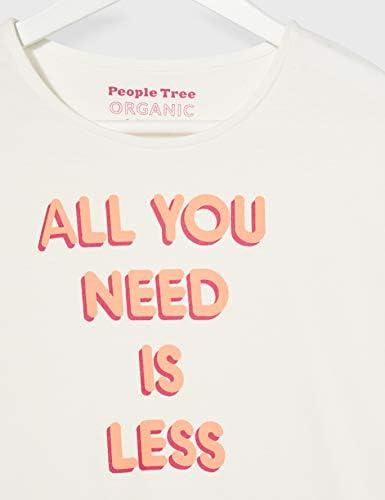 People Tree Damska All You Need is Less Tee T-Shirt: Odzież