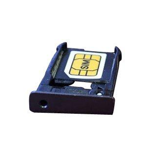 Smays SIM Card Tray Replacement for Motorola MOTO X 2nd X+1 X2 XT1096 XT1095 XT1097 (Black)