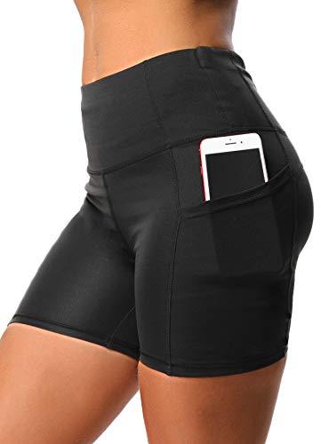INSTINNCT dames dubbele zakken sportlegging 3/4 yogabroek sportbroek loopbroek training tights met mobiele telefoon zak