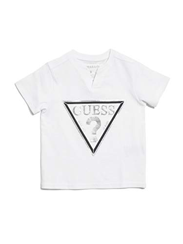 Logo Tee Neck Slit - GUESS Factory Kids Boy's Barrington Triangle Logo Tee (2-6)