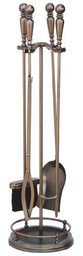 Uniflame, F-1629, 5pc Venetian Bronze Toolset with Ball Handles
