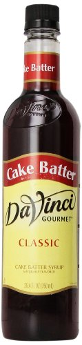 DaVinci Gourmet Classic Syrup, Cake Batter, 750ML  (Pack of 6)