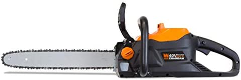 WEN 40417BT 40V Max Lithium Ion 16-Inch Brushless Chainsaw Tool Only , Black