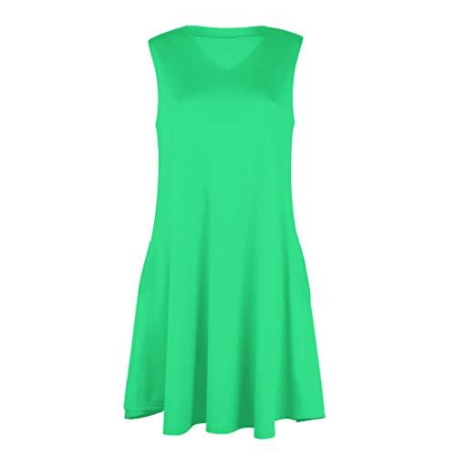 eleganti svasata verde la senza più maniche altalena Abiti donna con Midi camicette per ampia estate Pattinatore Felz eleganti abito volata dwqwHFU4x