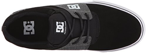 DC Mens Heathrow Vulc SE Skate Shoe Black/Black/Dark Grey vml4fI0