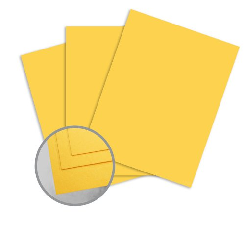 ColorMates Smooth & Silky Light Gold Card Stock - 12 x 12 in 90 lb Cover Smooth 250 per Package