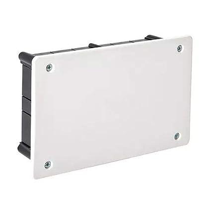 IDE CT114 IP33 Caja de Derivación de Empotrar con Tapa con Tornillos Metálicos, Negra, 108mm x 168mm x 50mm: Amazon.es: Industria, empresas y ciencia