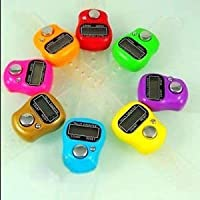 PAVITR SHOP 10 Pieces Mini Hand Tally Counter with Finger Strap Counting Machine Finger Ring 5 Digit Digital Electronic Japa Head Count,Puja Mantra Counter