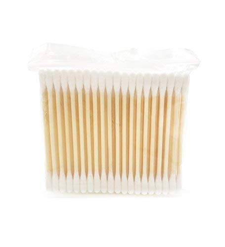 - Bamboo Cotton Swabs | Double Tipped Cotton Buds | Wooden Cotton Swabs | Biodegradable Cotton Buds 400 ct