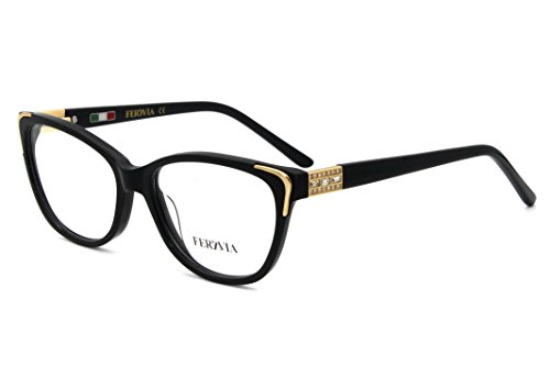 (Women Brand quality Eyewear Vogue Design Non Prescription Frames With Rhinestone Black color)