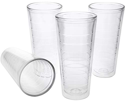 4-pack Insulated 22 Ounce Tumblers - BPA-Free - Made in USA - Clear