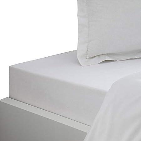 Savile Row - Sábana Bajera (algodón), algodón, Blanco, 190 x 90 cm: Amazon.es: Hogar
