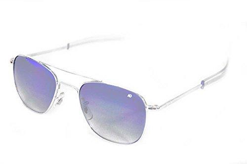 American Optical Limited Ed Original Pilot Bayonet 52 Silv Grad Grey Sunglasses (Grade Sunglasses Aviator Military)