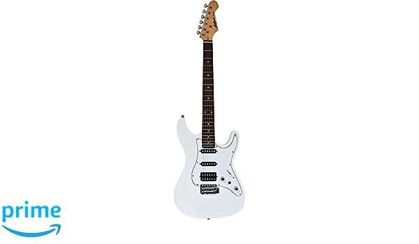 Aria STGSTVBL - Guitarra Stratocaster, color blanco: Amazon.es ...