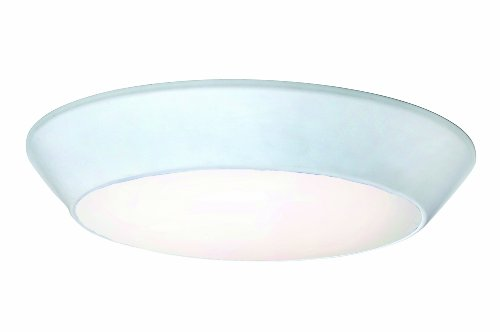 Maxim 87617WTWT Convert LED Flush Mount, White Finish, White Glass, PCB LED Bulb , 60W Max., Dry Safety Rating, Standard Dimmable, Shade Material, Rated Lumens by Maxim Lighting (Image #2)