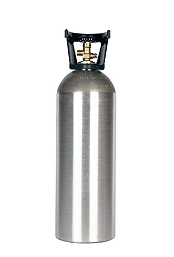 (New 20 lb Aluminum CO2 Cylinder with CGA320 Valve, Handle, and Free Leak Stopper)
