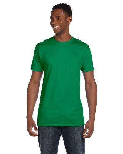 Hanes mens 4.5 oz. 100% Ringspun Cotton nano-T T-Shirt(4980)-Kelly Green-S-2PK