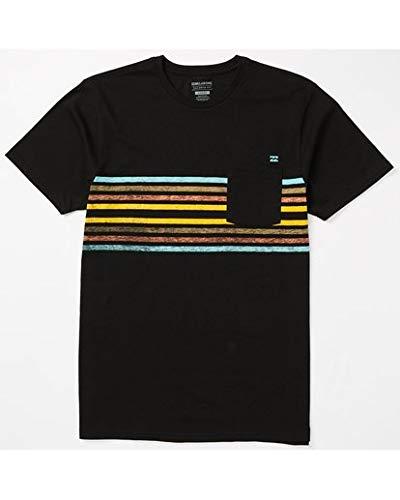Billabong Men's Pocket T-Shirts, Black, L
