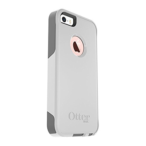 OtterBox COMMUTER SERIES Case for iPhone 5/5s/SE – Retail Packaging – GLACIER WHITE/GUNMETAL GREY