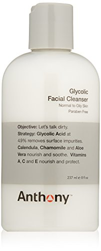 Anthony Nettoyant Facial glycolique, 8 fl. oz.