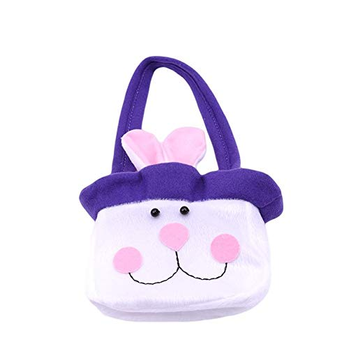 Gift Bags & Wrapping Supplies - 1pc Easter Bunny Candy Snack Bag Ear Bags Rabbit Baskets Kids Gifts Festival Diy Craft Wedding - Bunny Fabric Plate Supplies Seagrass Candy Basket Basket W