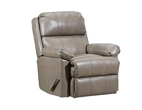 Taupe Recliner Leather - Lane Timeless Zero Gravity Leather/Vinyl Rocker Recliner in Soft Touch Taupe. 4205 Z-G