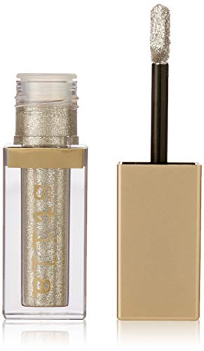 stila Magnificent Metals Glitter & Glow Liquid Eye Shadow, Diamond Dust (Sheer Silver with Multi-color Sparkle)