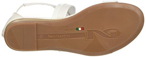 Giardini 707 Sandali P717601d Tacco Bianco Donna con Nero f4xvSqdwv