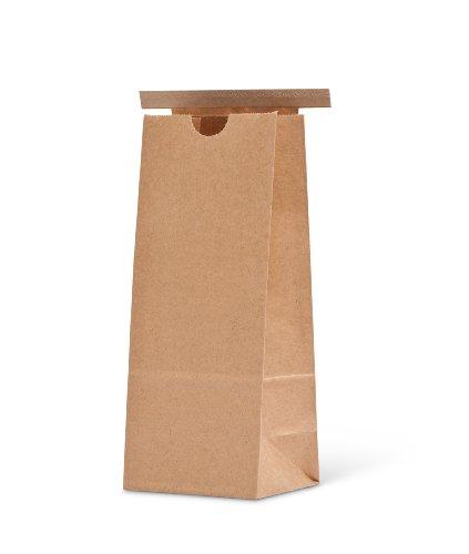 Pacific Bag, 100-326, Paper Tin-Tie Bag, 0.5 lb/ 250 g, Natural Kraft with Polypropylene Liner (Case of 1000