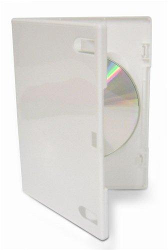 mediaxpo 100 Premium Standard Solid White Color Single DVD Cases (Professional Use) ()