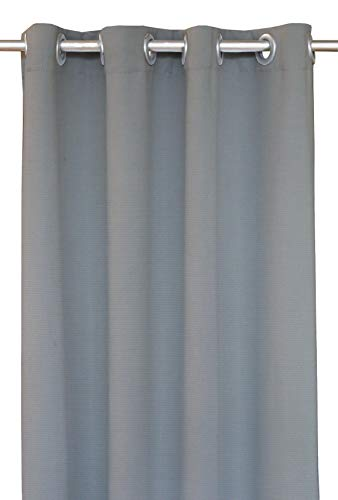 RSH Décor Indoor/Outdoor Brush Nickel Grommet Curtain Panel Made from Sunbrella Sailcloth Seagull (50