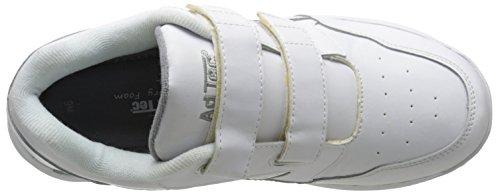 Adtec Mens Uniforme Athlétique Velcro Chaussures Blanc