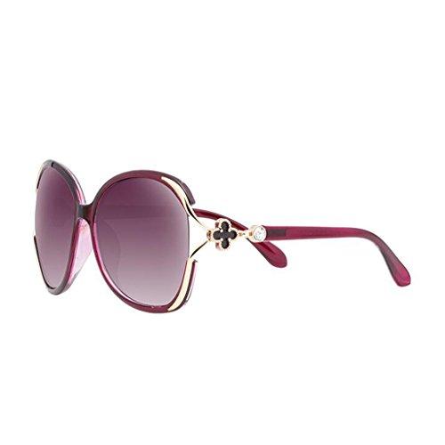 Marea UV Gafas de gafas sol de ser de femeninas sol sol Personalidad con de pueden las Estrella de redondas gafas Nuevas sol Purple sol gafas párrafo moda femenina gafas B con cara gafas de Polarizer equipadas Pw1U0R0q