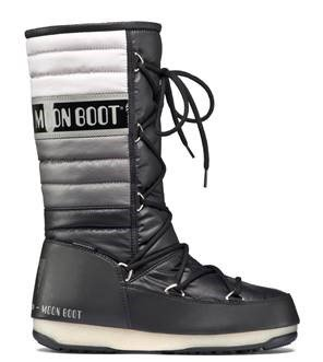 new product 8b854 115eb Moon Boot Tecnica Moonboots We Quilted (Schwarz/Grau)-40 ...