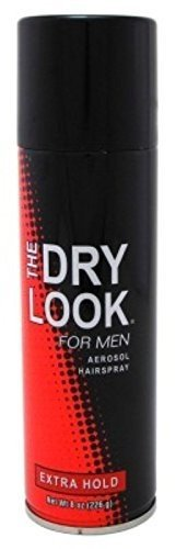 Dry Look Hairspray for Men Extra Hold, 8 oz, Pack of 3