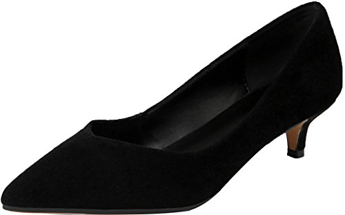 Calaier Ladies Jtaar 4.5cm Gattino-tallone Slip On Pumps Scarpe Nere