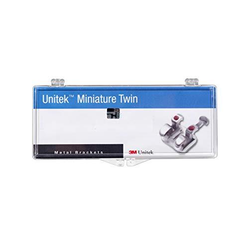 """Dental 3M Unitek Miniature Twin Metal ROTH Brackets 017-114 0.022""""(0.56mm)"""