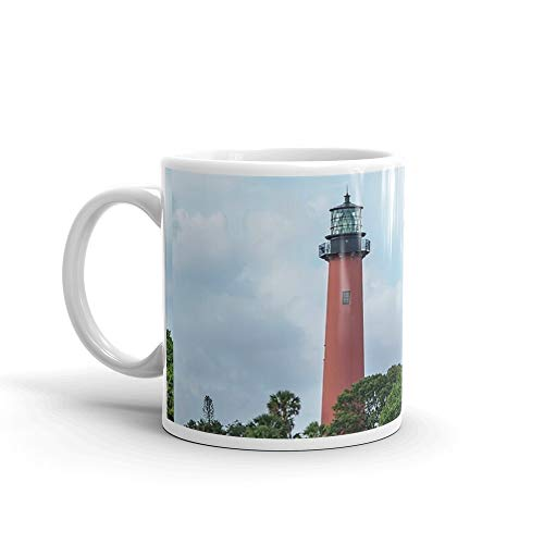 (Jupiter Inlet Light, Florida 11 Oz White Ceramic )