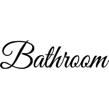 Amazon.com: Cartel para puerta de baño calcomanía Home ...