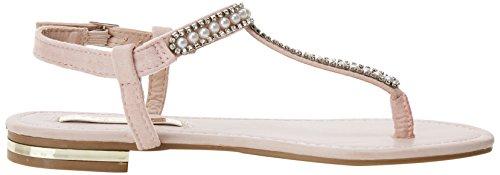 XTI Damen 30738 Knöchelriemchen Sandalen Pink (Nude)